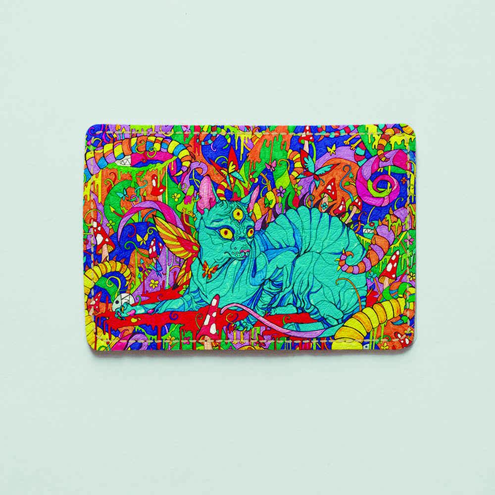 Обложка для id паспорта, карты, автодокументов 1.0 Fisher Gifts  435 Грибная поляна (эко-кожа)