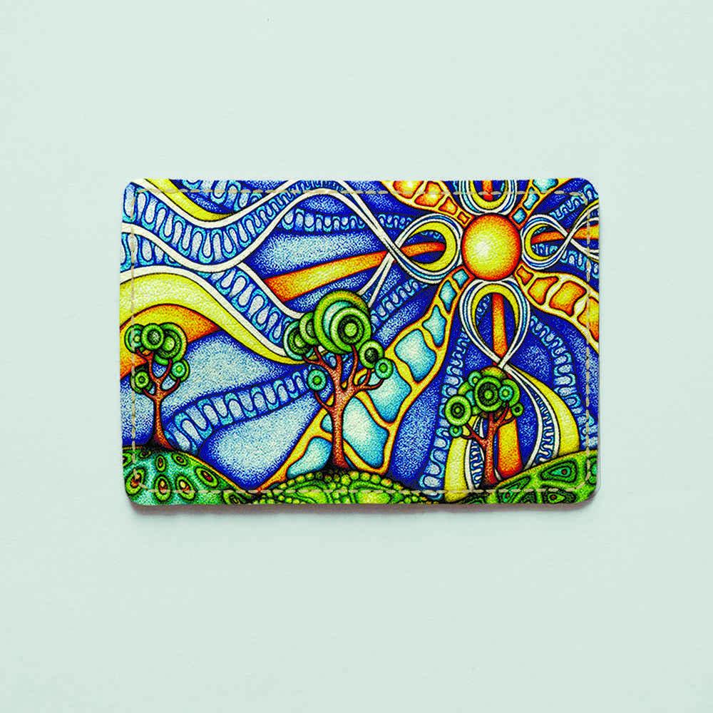 Картхолдер Fisher Gifts 438 Солнце растафарай (эко-кожа)