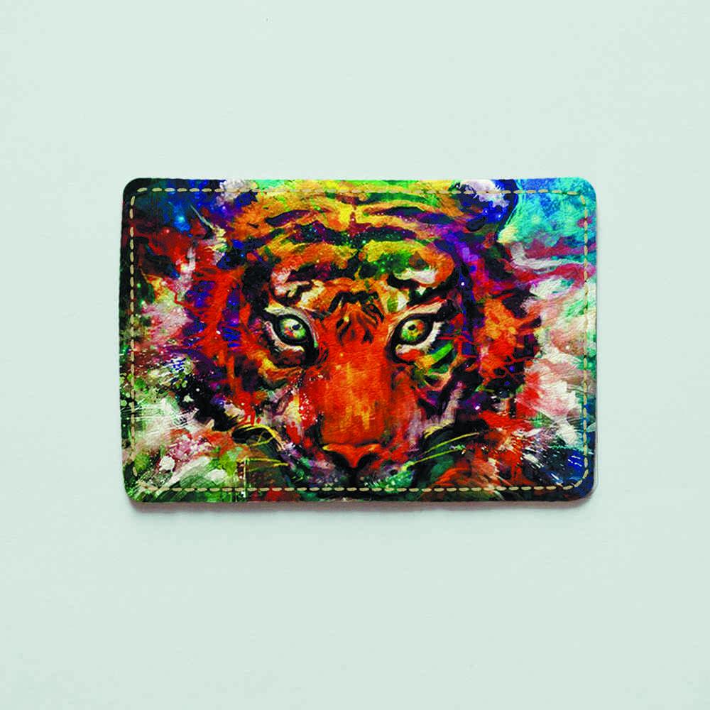 Картхолдер v.1.0. Fisher Gifts 447 Барвистий тигр (еко-шкіра)