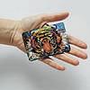 Картхолдер v.1.0. Fisher Gifts 447 Барвистий тигр (еко-шкіра), фото 3