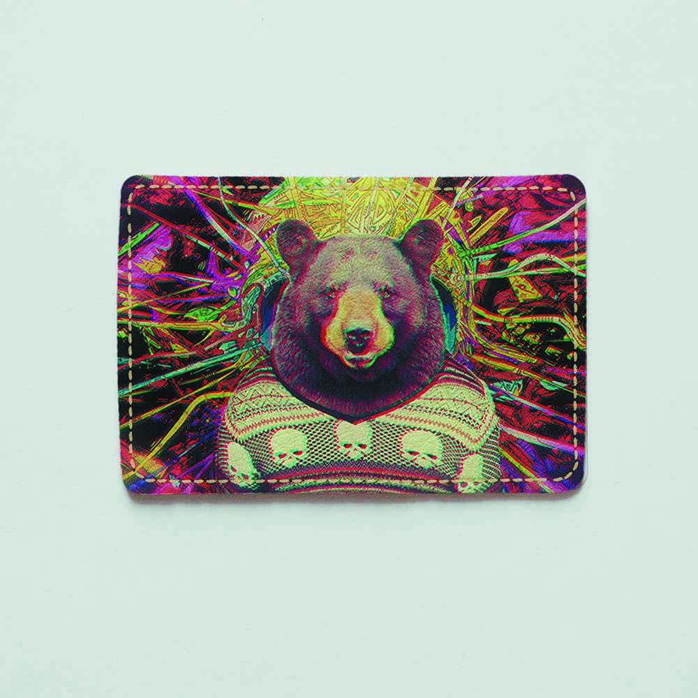Картхолдер v.1.0. Fisher Gifts  465 Астральный медведь (эко-кожа)