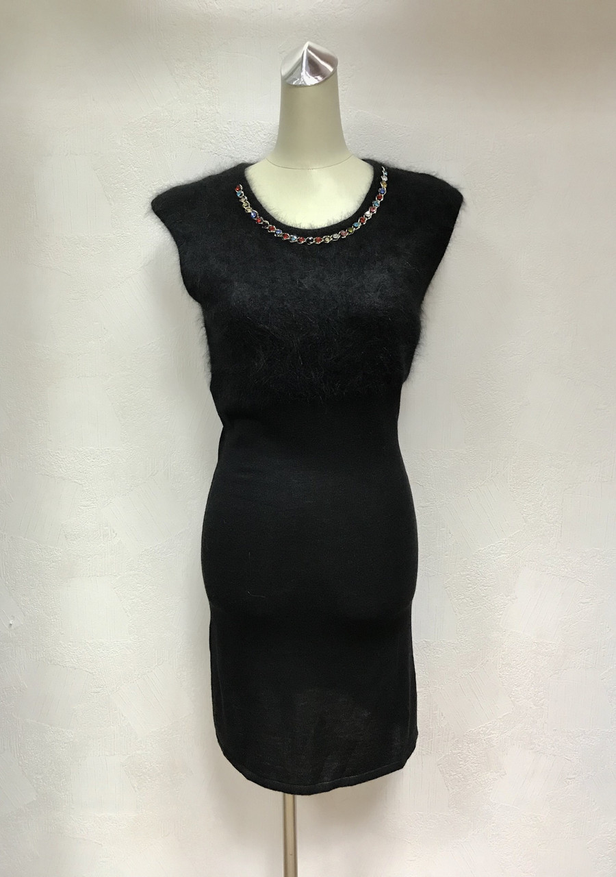 Короткое платье без рукава трикотаж кашемир