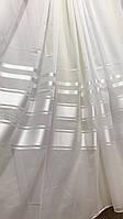 Тюль шифон Класик Белая атласная полоса