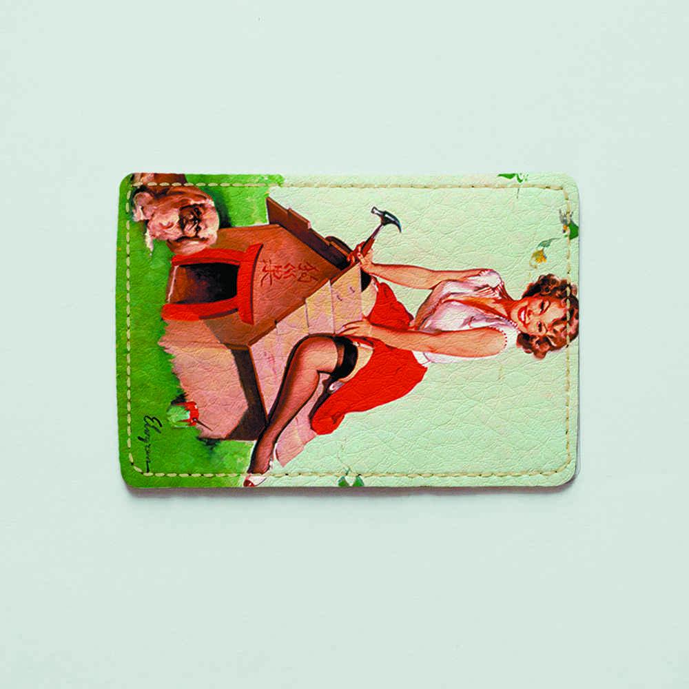 Картхолдер v.1.0. Fisher Gifts  537 Пин-ап. Строительница (эко-кожа)
