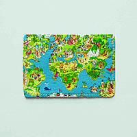 Картхолдер Fisher Gifts 561 Карта мира-весёлый арт (эко-кожа)
