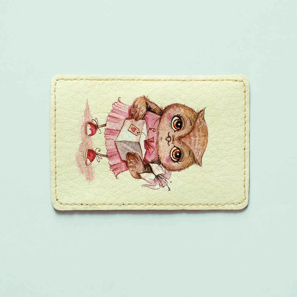 Картхолдер v.1.0. Fisher Gifts  571 Подарок для совы (эко-кожа)