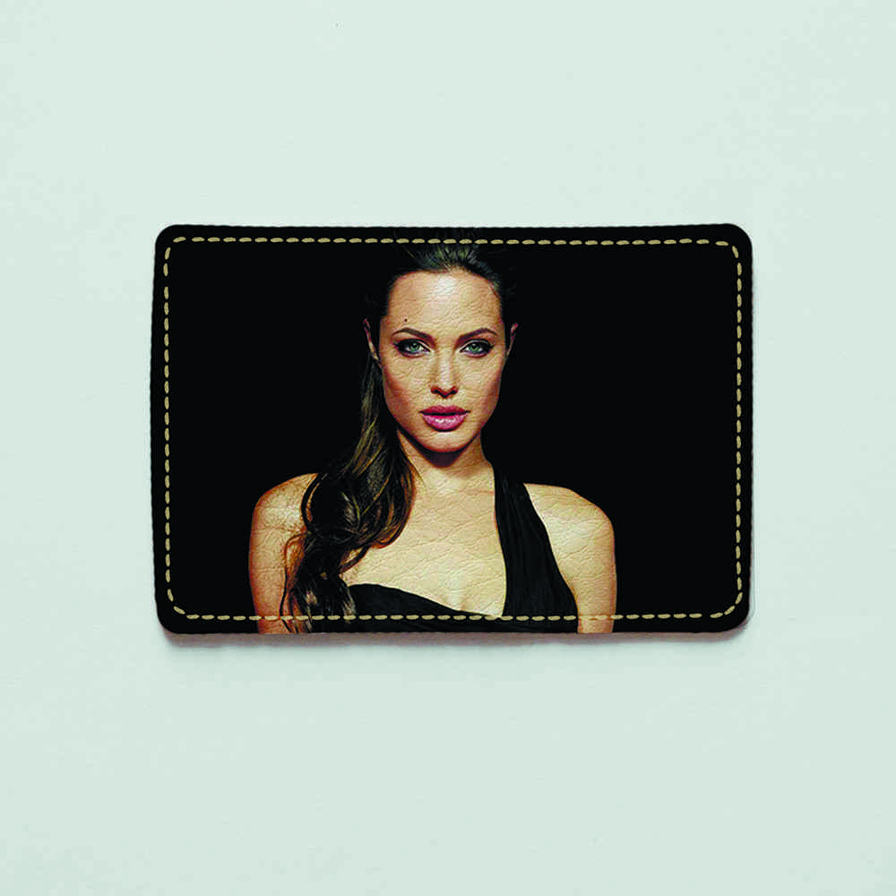 Картхолдер v.1.0. Fisher Gifts  579 Анджелина Джоли (эко-кожа)