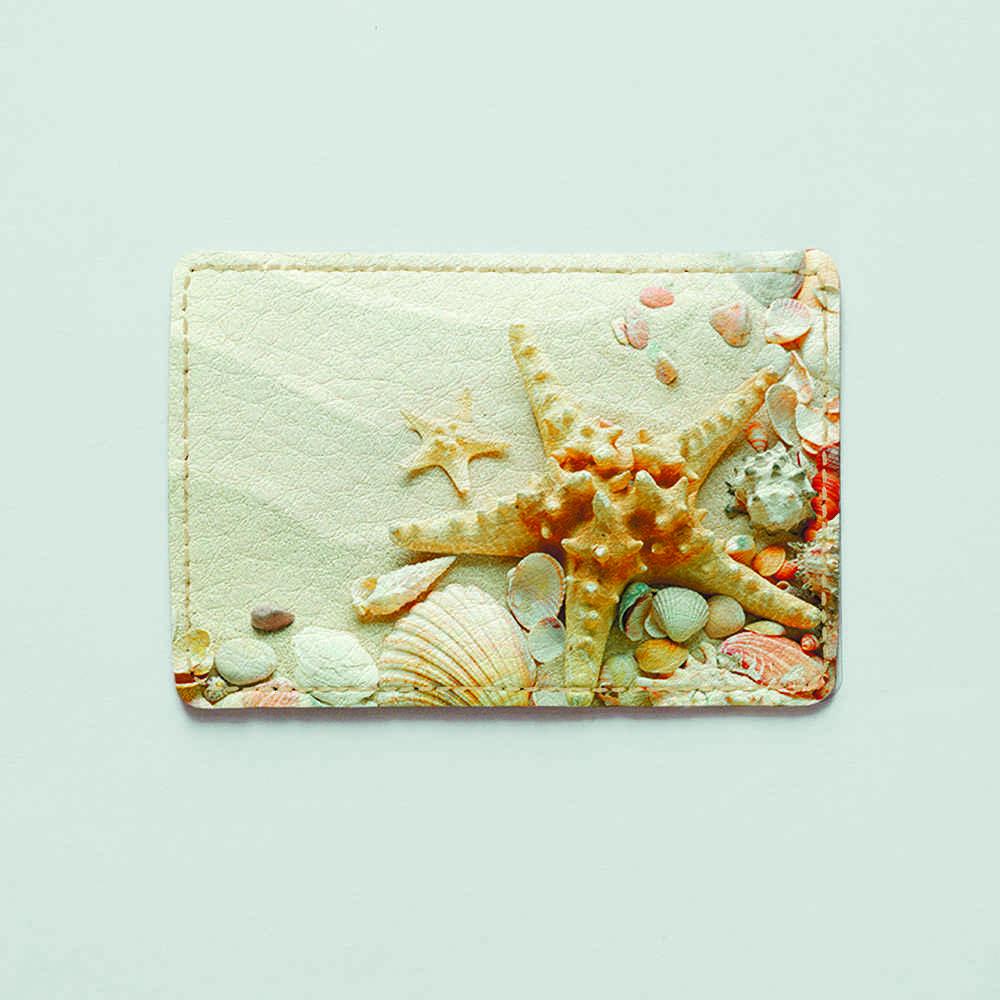 Картхолдер v.1.0. Fisher Gifts  585 Морские звёзды на песке (эко-кожа)