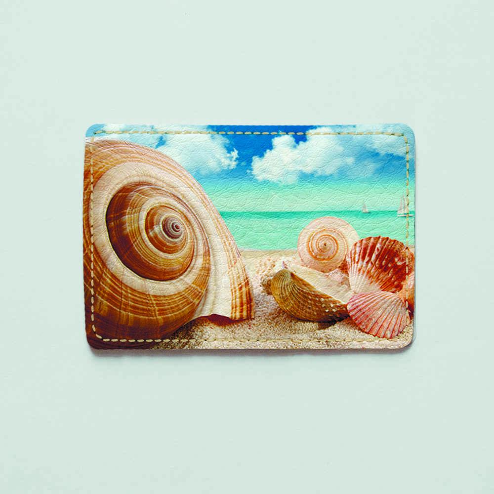 Картхолдер v.1.0. Fisher Gifts  588 Раковины на пляже (эко-кожа)