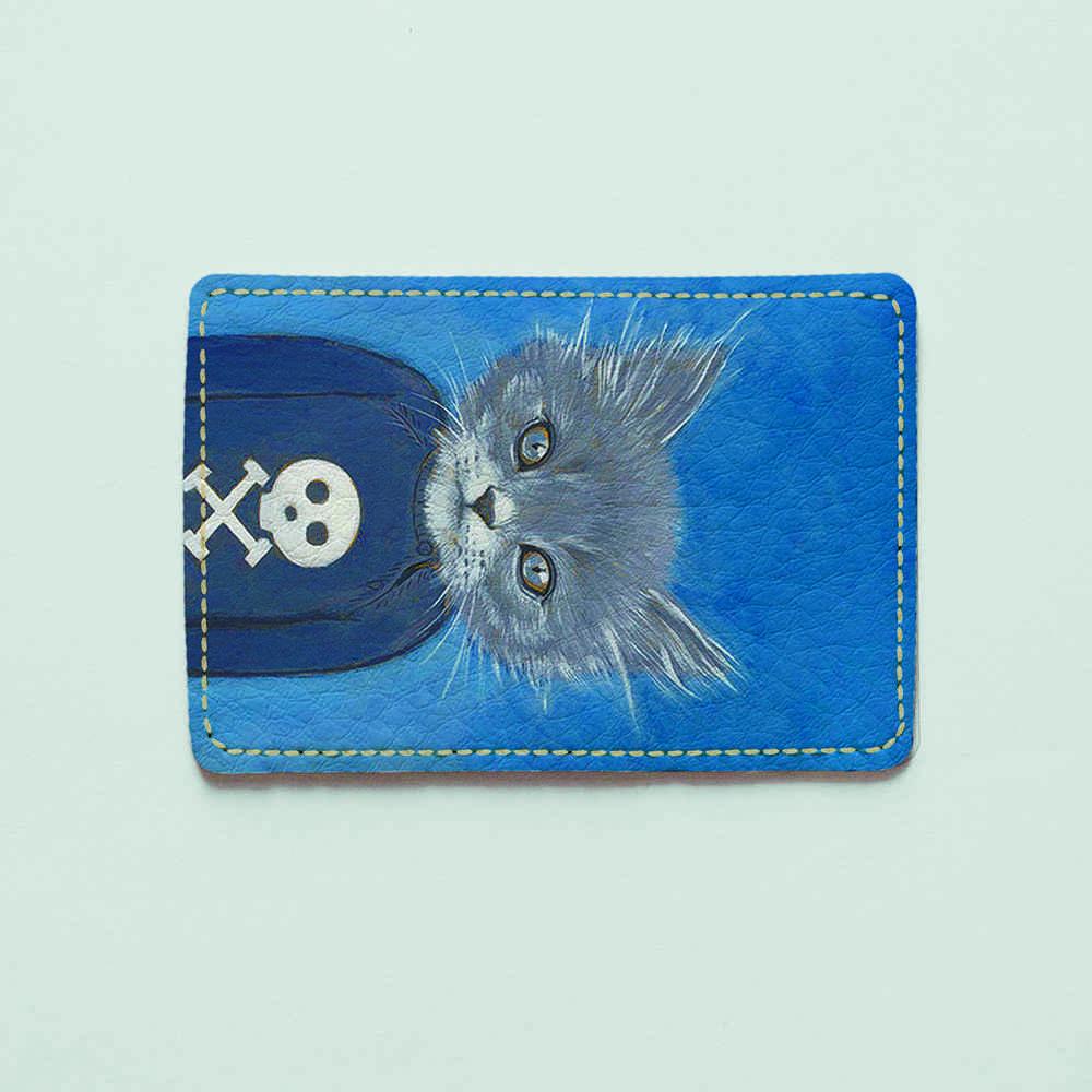 Картхолдер v.1.0. Fisher Gifts  595 Кот бунтарь (эко-кожа)