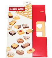 Форма лист для вырубки печенья на 24 ячейки