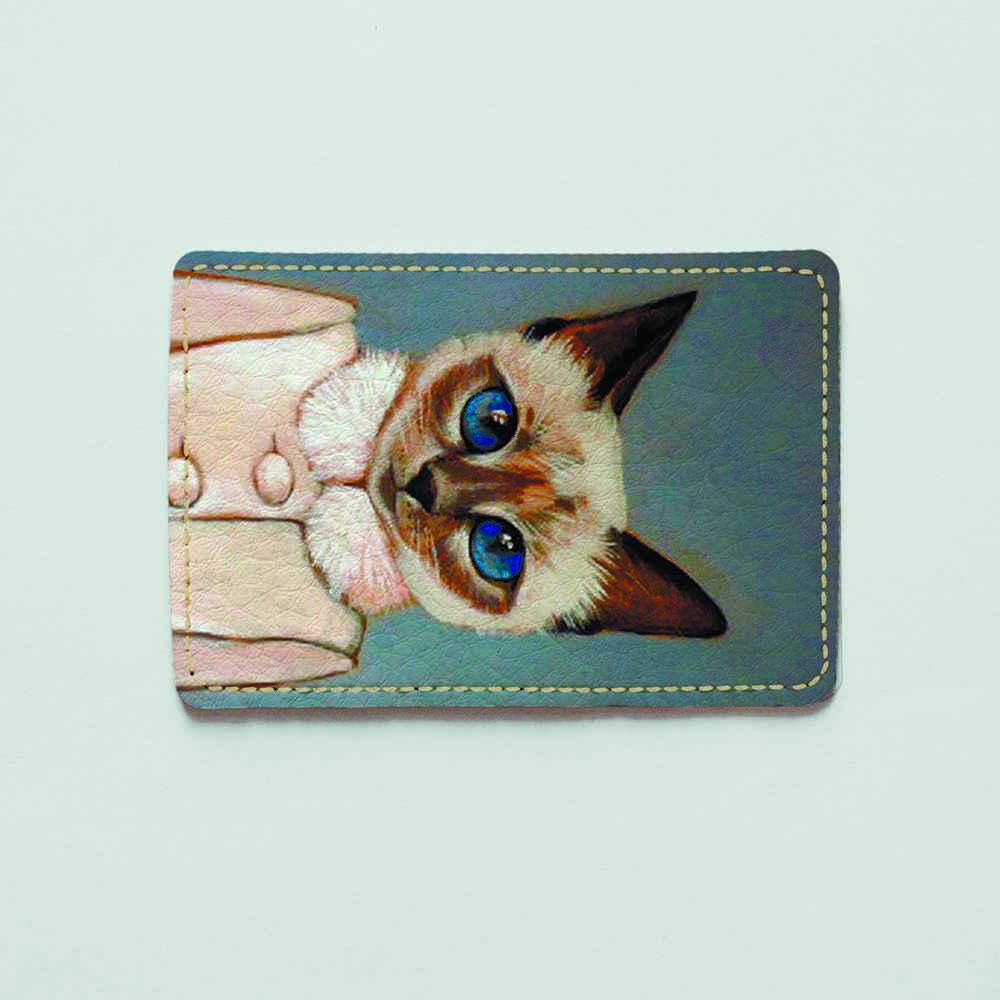 Картхолдер v.1.0. Fisher Gifts  599 Кошечка Лариса (эко-кожа)