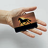 Обложка для id паспорта, карты, автодокументов 1.0 Fisher Gifts  614 Бегущий на закате солнца (эко-кожа), фото 3