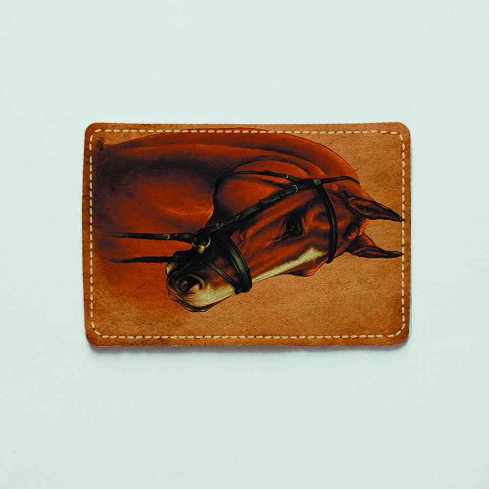 Картхолдер v.1.0. Fisher Gifts  611 Коричневый жеребец (эко-кожа)
