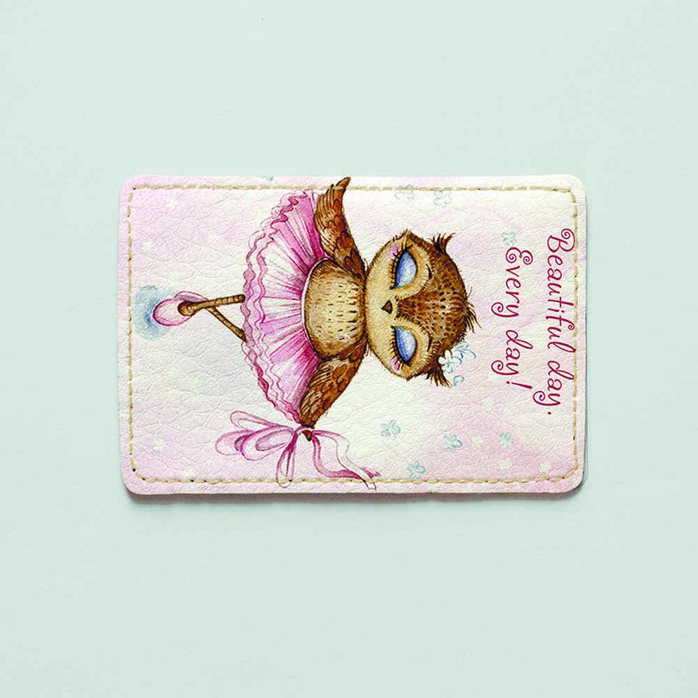 Картхолдер v.1.0. Fisher Gifts  618 Сова балерина (эко-кожа)
