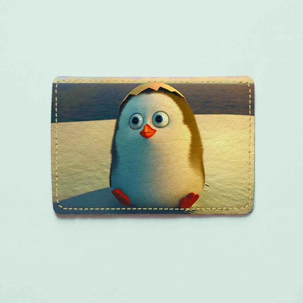 Картхолдер v.1.0. Fisher Gifts  626 Пингвины в деле (эко-кожа)