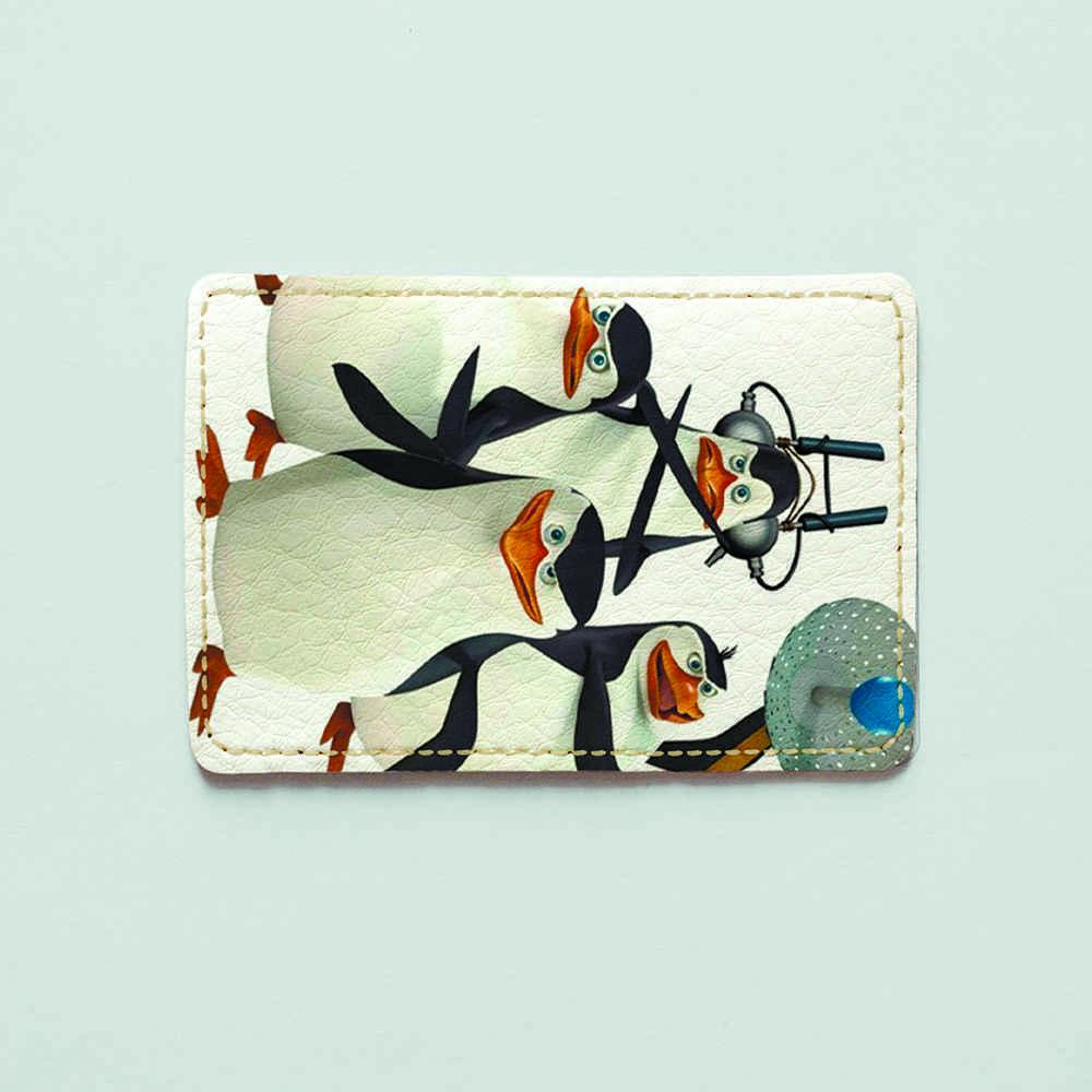 Картхолдер v.1.0. Fisher Gifts  627 Пингвины в деле (эко-кожа)