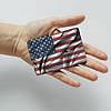 Картхолдер v.1.0. Fisher Gifts  656 Развевающийся американский флаг (эко-кожа), фото 3