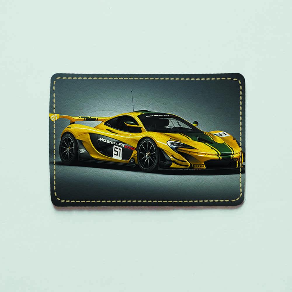 Картхолдер v.1.0. Fisher Gifts  671 Желтый McLaren (эко-кожа)