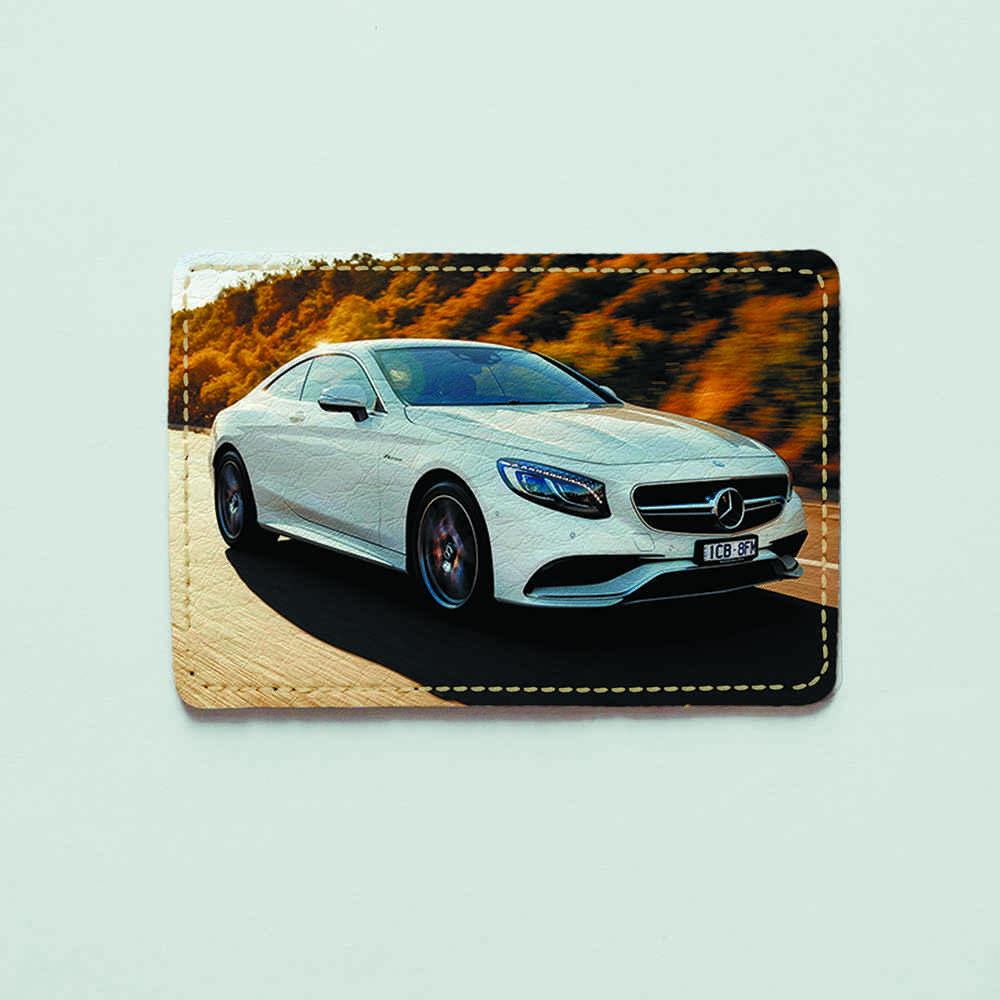 Картхолдер v.1.0. Fisher Gifts  677 Mercedes Benz на дороге (эко-кожа)