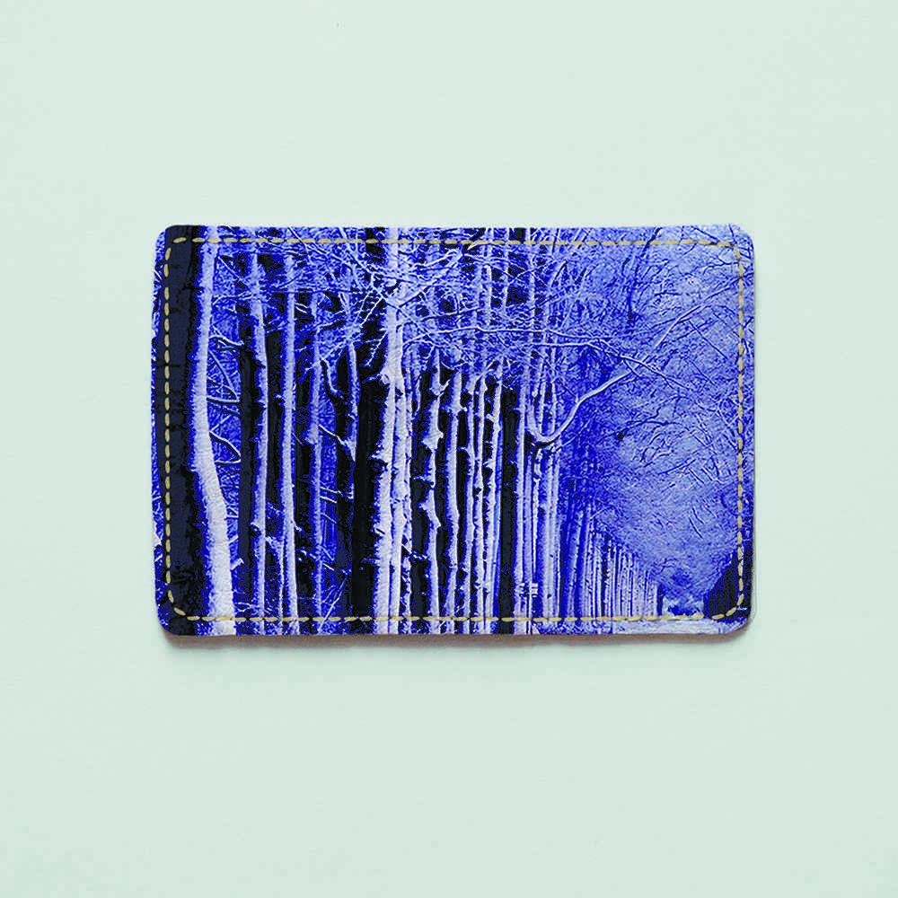 Картхолдер v.1.0. Fisher Gifts  683 Зимний лес (эко-кожа)