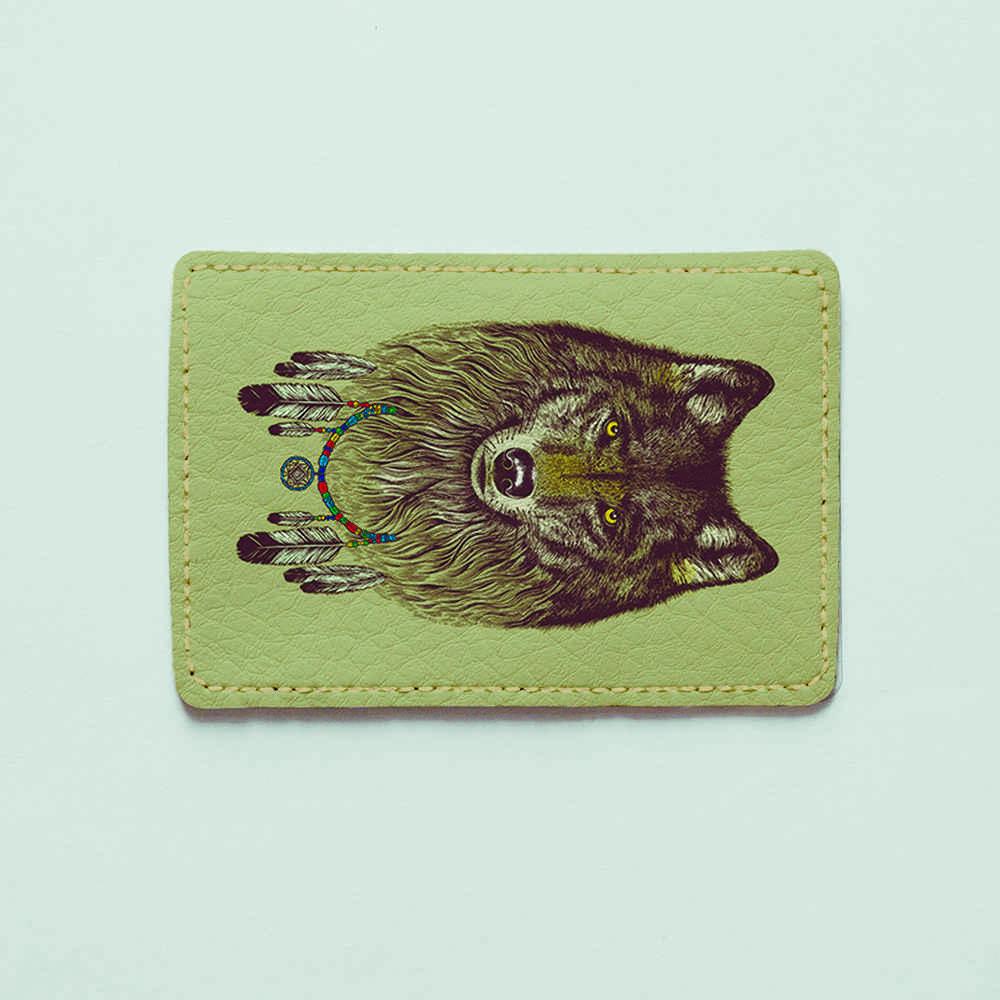Картхолдер v.1.0. Fisher Gifts  701 Волк - ловец снов (эко-кожа)