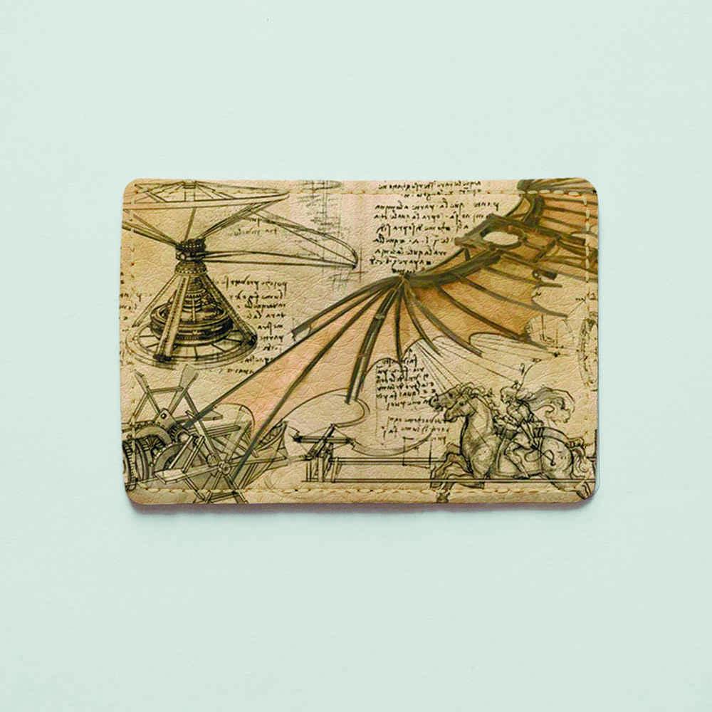 Картхолдер v.1.0. Fisher Gifts  728 Летательный аппарат Леонардо да Винчи (эко-кожа)