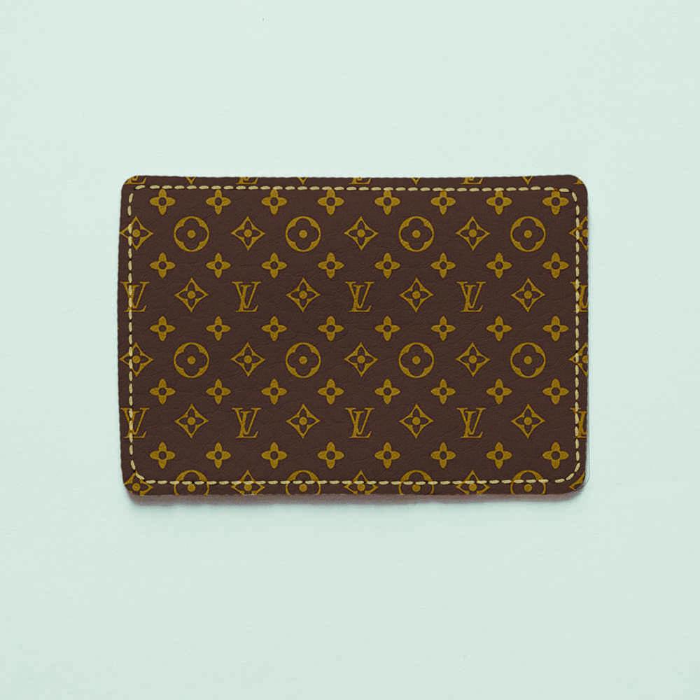 Картхолдер v.1.0. Fisher Gifts  748 Lui Vuitton коричневый фон (эко-кожа)