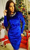 Платье велюр 43762893-4