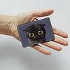 Картхолдер v.1.0. Fisher Gifts  784 Черный кот (эко-кожа), фото 3