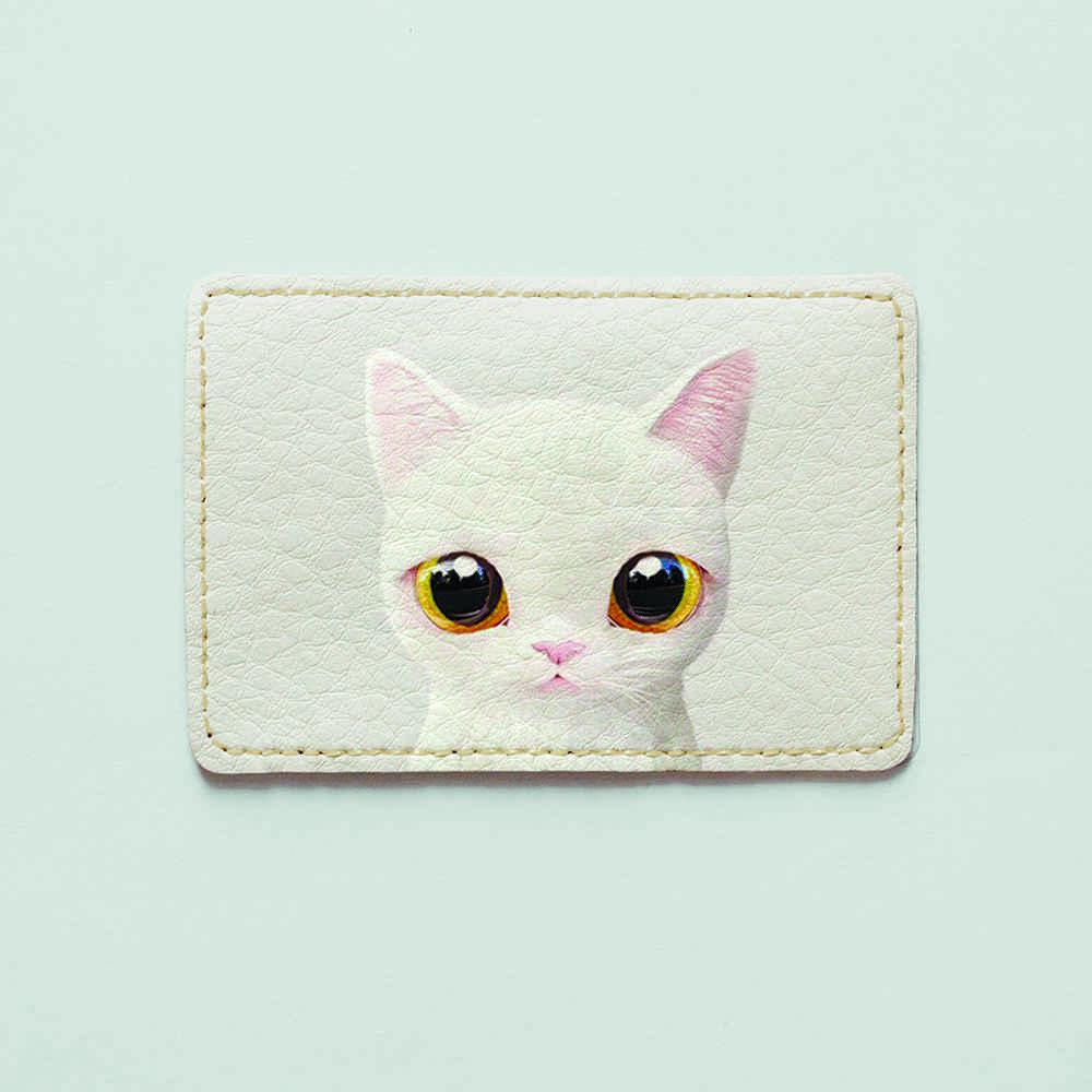 Обложка для id паспорта, карты, автодокументов 1.0 Fisher Gifts  785 Кошка Снежинка (эко-кожа)