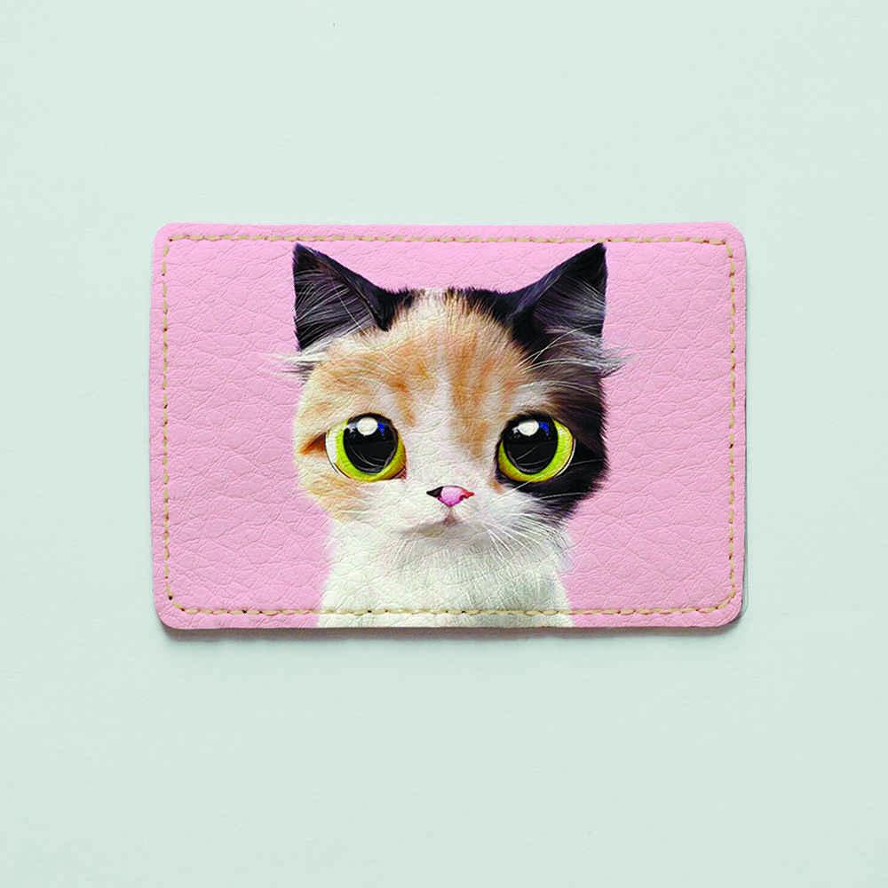 Картхолдер v.1.0. Fisher Gifts  787 Трехцветная кошка (эко-кожа)