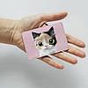 Картхолдер v.1.0. Fisher Gifts  787 Трехцветная кошка (эко-кожа), фото 3