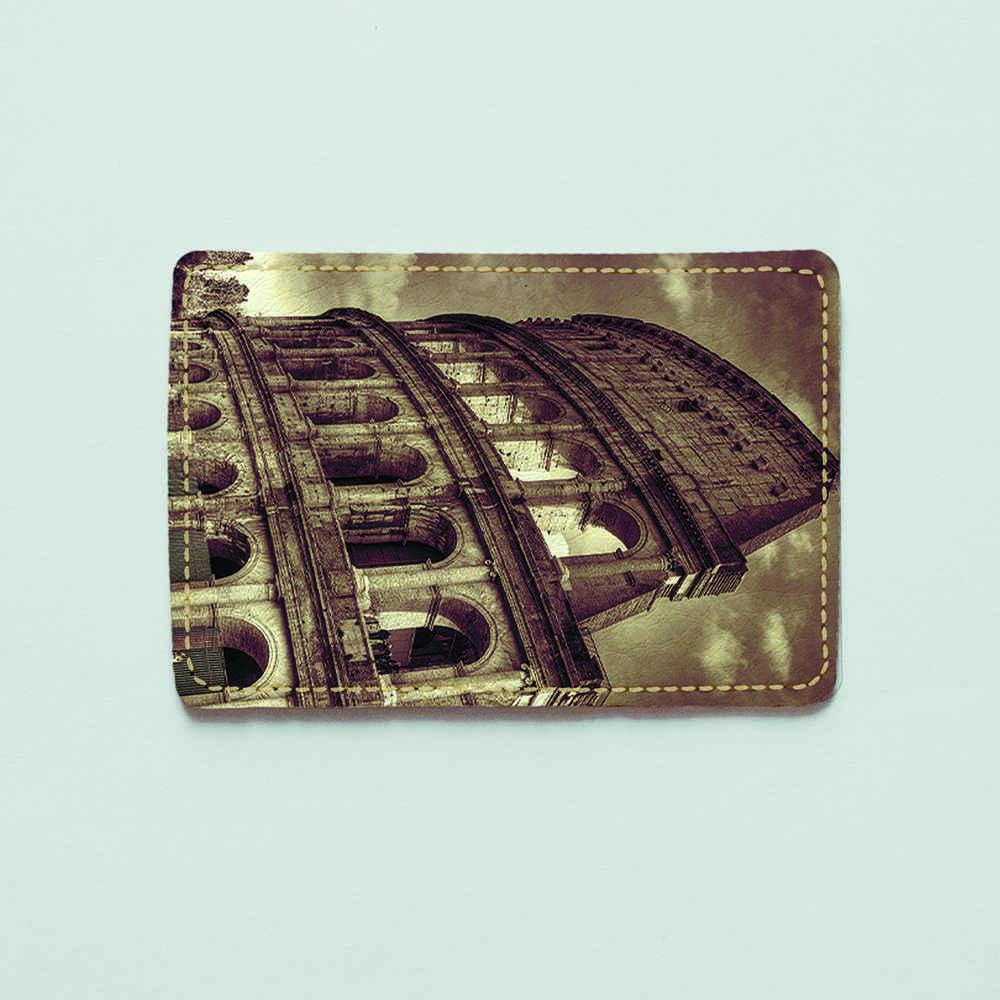 Обложка для id паспорта, карты, автодокументов 1.0 Fisher Gifts  795 Колизей (эко-кожа)