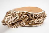 Кашпо керамическое для растений Крокодил