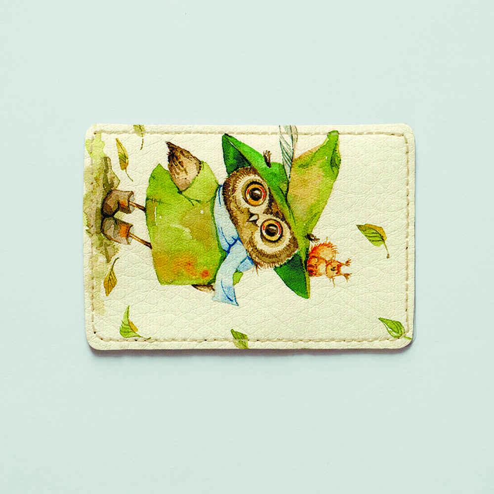 Картхолдер v.1.0. Fisher Gifts  857 Сова и бельчонок (эко-кожа)