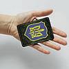 Картхолдер Fisher Gifts 875 Герб на фоне хаки (эко-кожа), фото 3