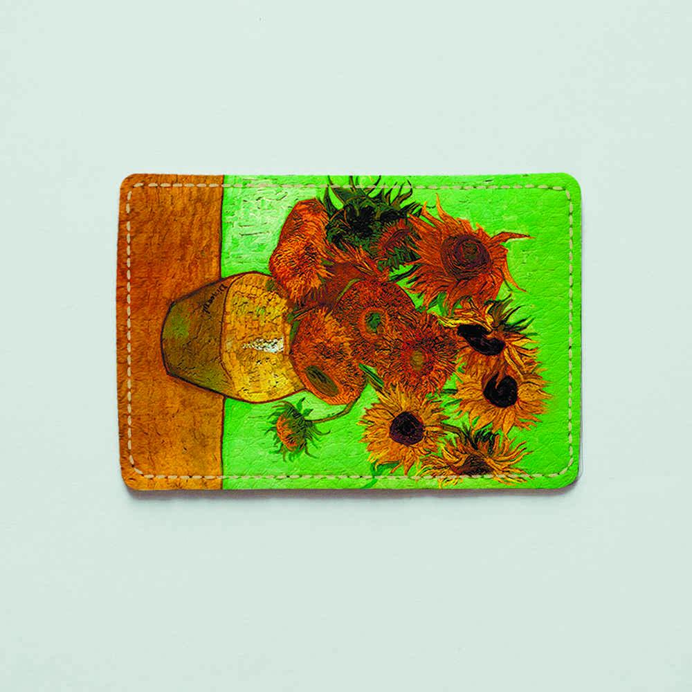 Картхолдер v.1.0. Fisher Gifts 900 Винсент Ван Гог, Подсолнухи (эко-кожа)