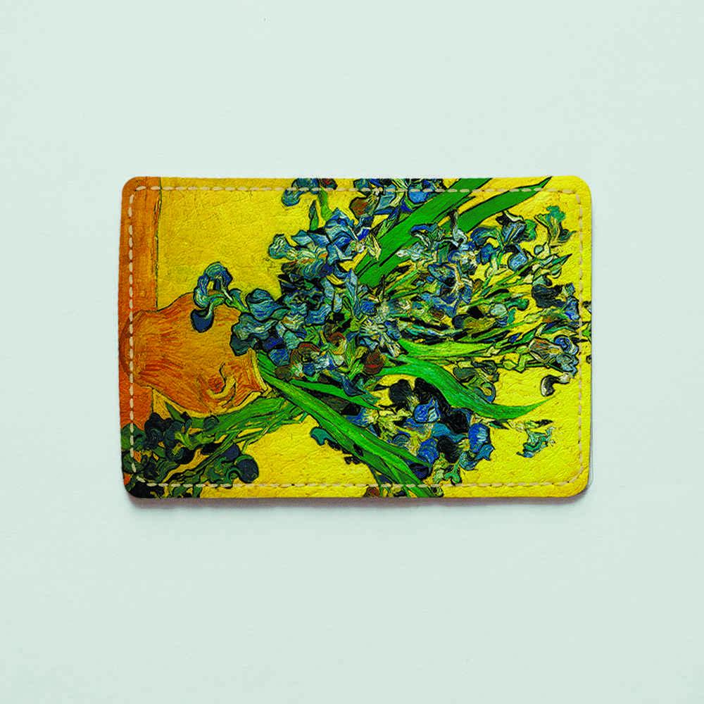 Картхолдер v.1.0. Fisher Gifts  902 Винсент Ван Гог, Ирисы (эко-кожа)