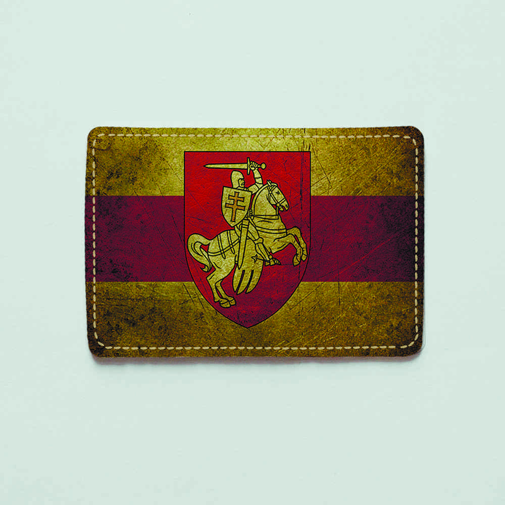Картхолдер v.1.0. Fisher Gifts  905 Белорусский флаг old (эко-кожа)