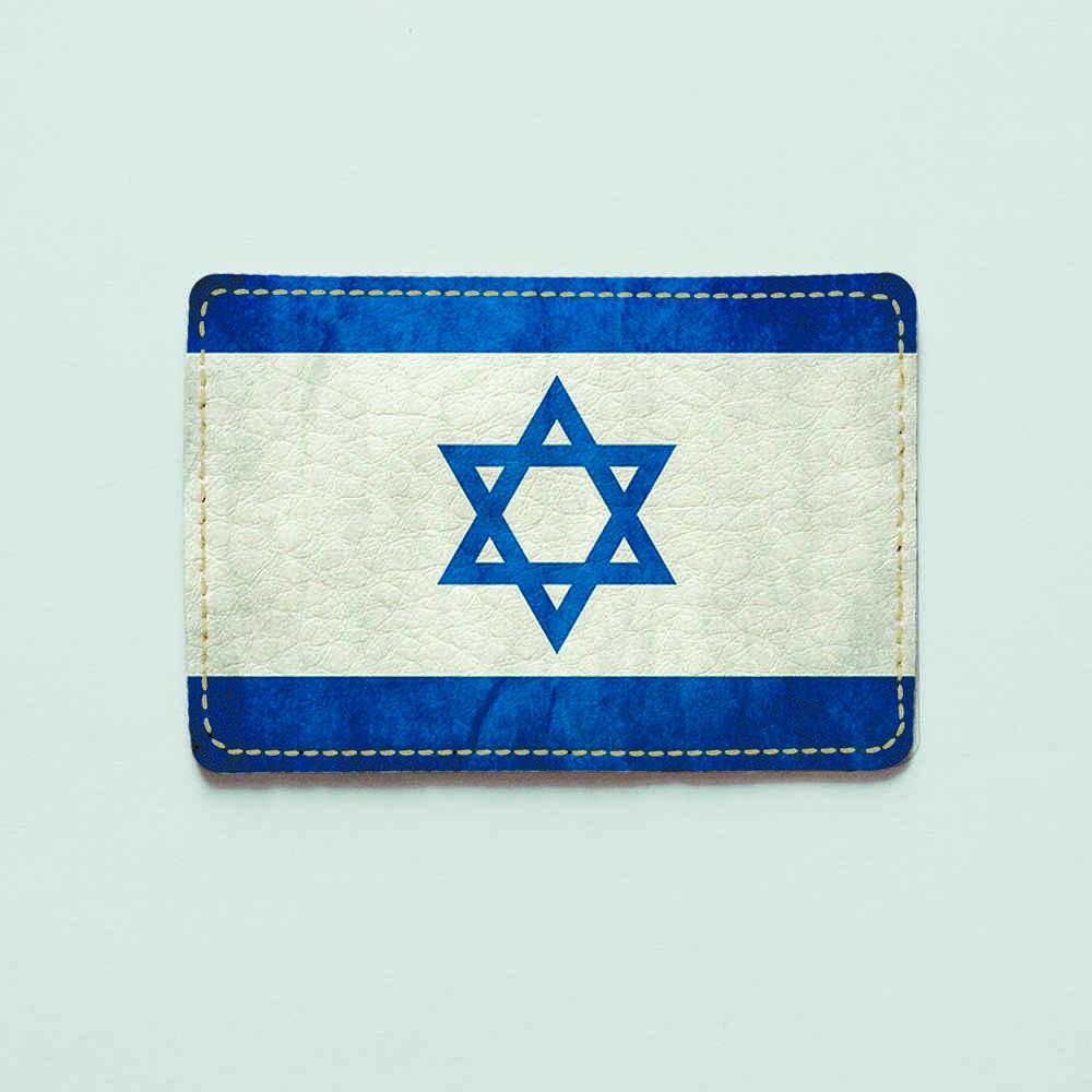 Картхолдер v.1.0. Fisher Gifts  907 Флаг Израиля (эко-кожа)