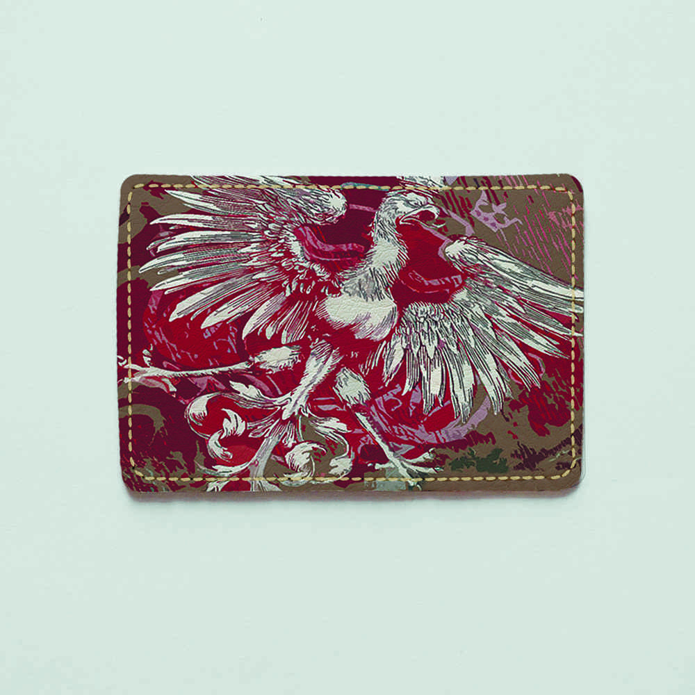 Картхолдер v.1.0. Fisher Gifts  906 Польский орёл на флаге (эко-кожа)