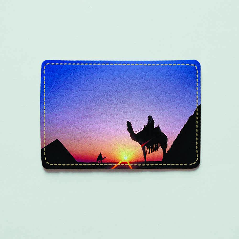 Картхолдер v.1.0. Fisher Gifts  915 Бедуин на закате (эко-кожа)