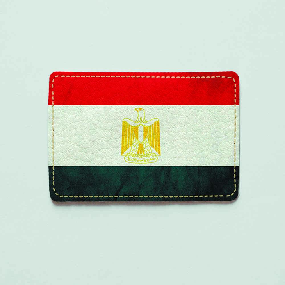 Картхолдер v.1.0. Fisher Gifts  919 Флаг Египта (эко-кожа)