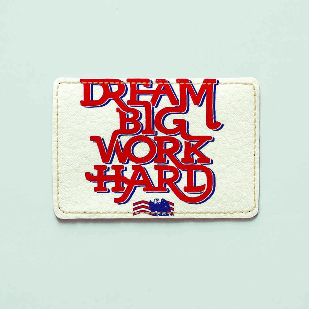 Картхолдер v.1.0. Fisher Gifts  928 Dream BIG - work HARD (эко-кожа)