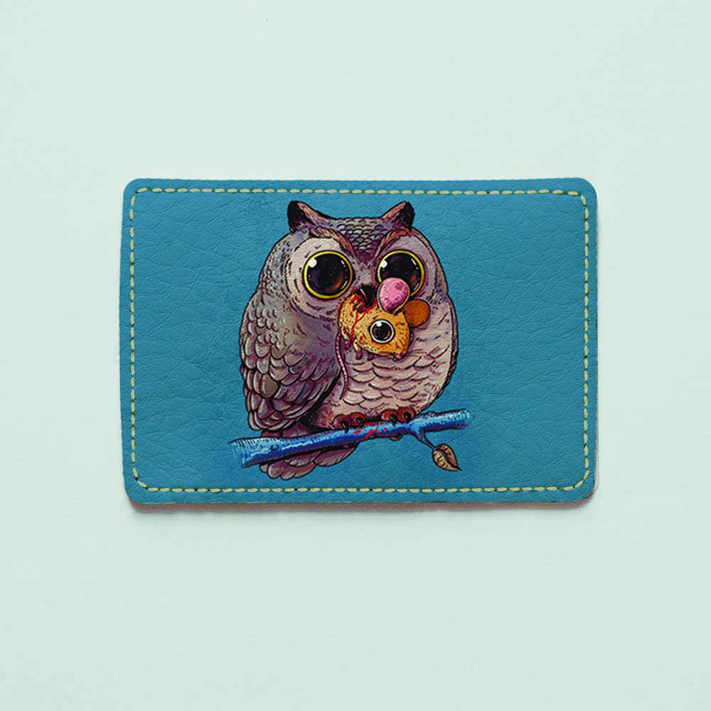 Картхолдер Fisher Gifts 943 Сова и мышь (эко-кожа)