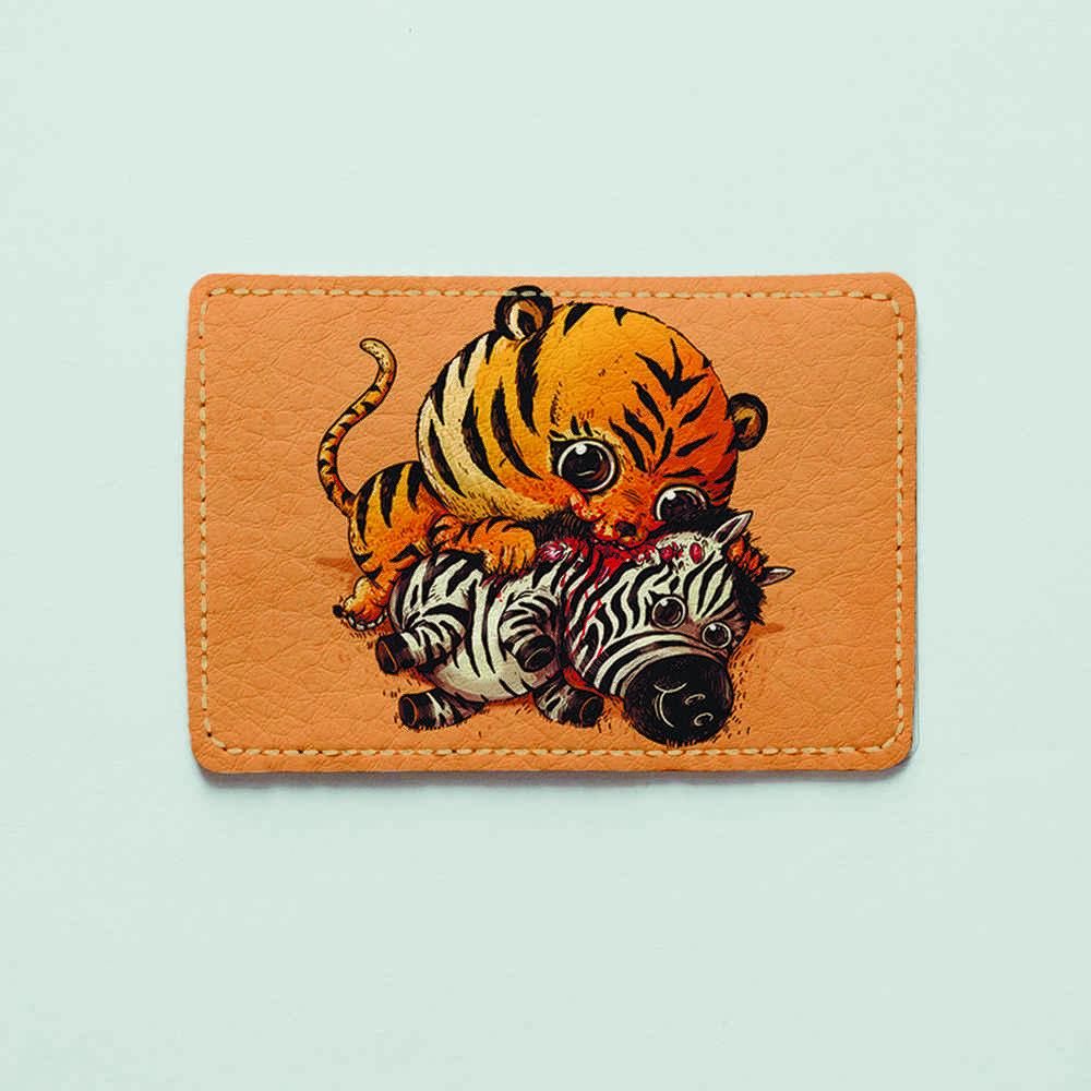 Картхолдер v.1.0. Fisher Gifts  946 Тигр и зебра (эко-кожа)
