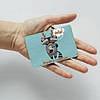 Картхолдер v.1.0. Fisher Gifts  959 Хипстерский енот (эко-кожа), фото 3