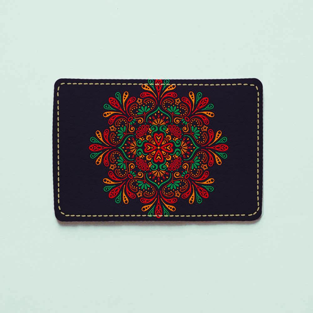 Картхолдер v.1.0. Fisher Gifts  965 Индийская мандала (эко-кожа)
