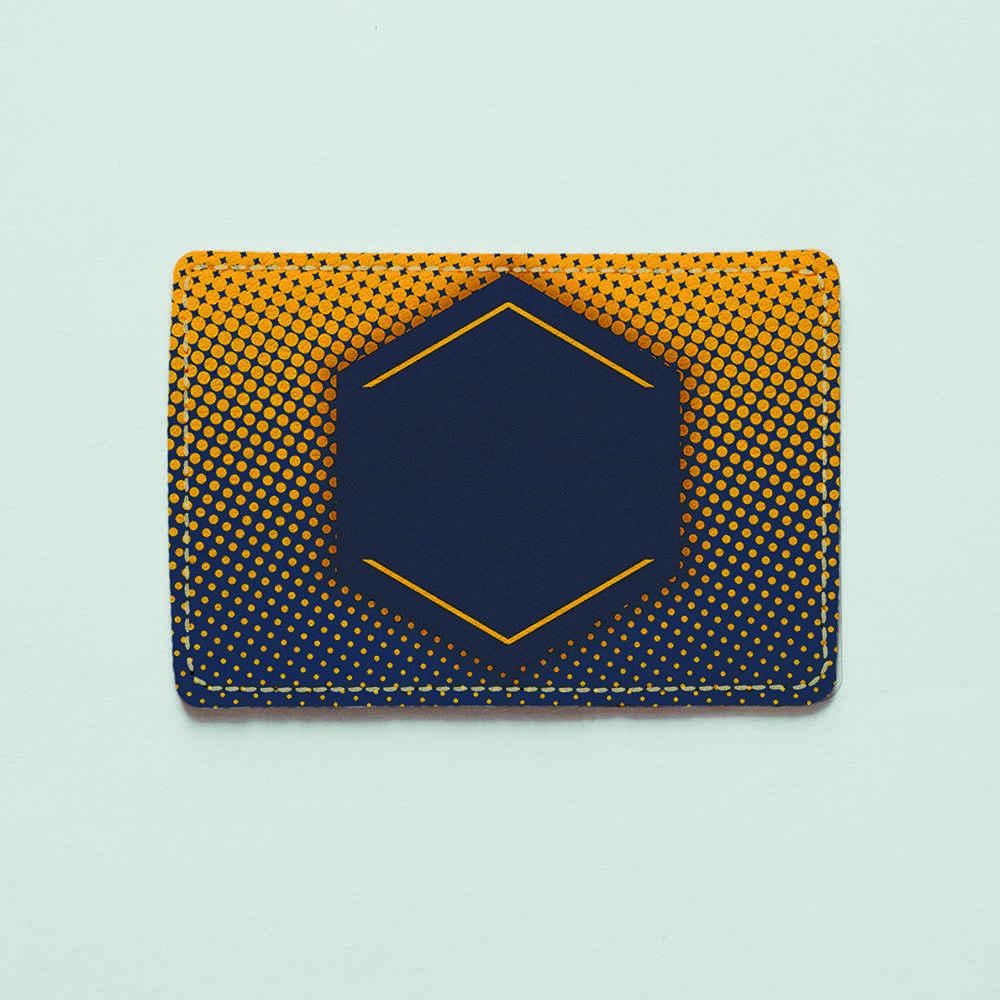 Картхолдер Fisher Gifts 961 Оранжево-синяя текстура (эко-кожа)